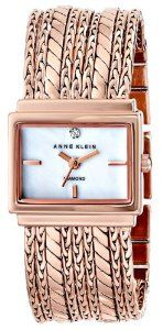 Today only, Anne Klein watches accented with diamonds and Swarovski crystals start at just $34.99. Browse stylish options for Mother's Day gifting, including classic and modern gold-, rose gold-, and silver-tone bracelet watches, plus boxed sets that contain three extra straps for mix-and-match wearing.   Discount only applies to items shipped and sold by Amazon.com. This offer is valid today only, May 8, 2014, and while supplies last.
