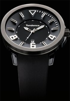 Tendence Gulliver Sport Black/Silver Watch - Cool Watches from Watchismo.com