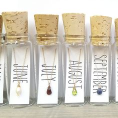 Necklace - Three Stones in a Bottle - Custom Made