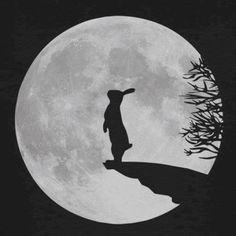 werewolf bunny bunnies rabbit hare moon fullmoon Kids T-Shirt navy - Rabbit Shirt - Ideas of Rabbit Shirt - werewolf bunny from Spreadshirt Lapin Art, Rabbit Art, Bunny Art, Art Et Illustration, Moon Art, Stars And Moon, Werewolf, Moonlight, Artsy
