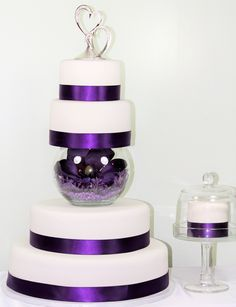 "Add a ""baby cake"" on the side for the Bride and Groom to share.  Leave your rental wedding cake as a centerpiece!"