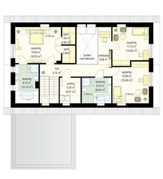 Projekt domu Viking 5 - rzut poddasza