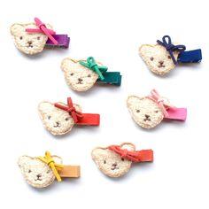 fuzzy teddy bear clip