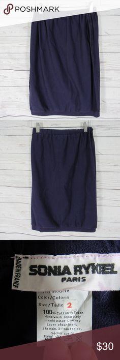 Sonia Rykiel Skirt Womens 2 Purple Cotton Waist Measurement: 12'' Length Measurement: 21'' Condition: Good condition SKU:C57 Sonia Rykiel Skirts