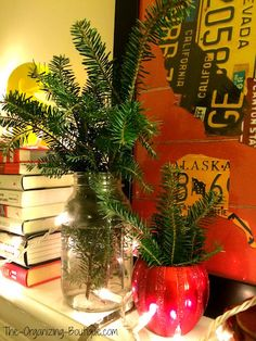 Christmas Tree Crafts - How To Reuse The Christmas Tree Trimmings As Decor Even If You're Not A Crafty Person | The-Organizing-Boutique.com