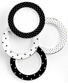 Kate Spade Polka Dot Accent Plates