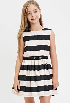 Girls Stripe A-Line Dress (Kids) | Forever 21 girls - 2000164582