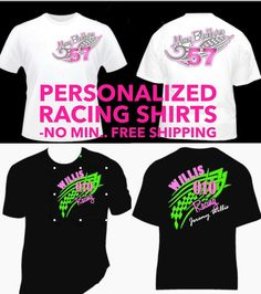 items similar to personalized racing shirts design your own your shirt add number your name and saying - Racing T Shirt Design Ideas
