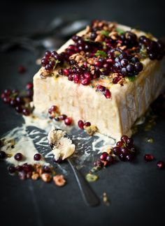 ★ Mango, Nectarine and Passionfruit Semifreddo, with Fresh Berries and Pomegranate Seeds