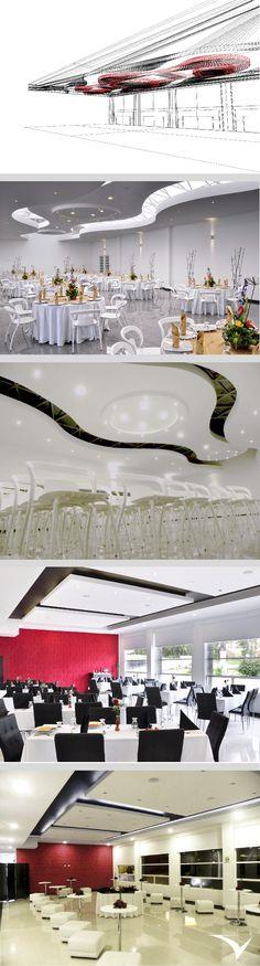 Proyecto de diseño del Centro de Convenciones Confaboy, desarrollo integral de distintos espacios interiores transformables, diseño y construcción de mobiliario para bar, restaurante,auditorio y gran salón. Fotografias: Fabian Virviescas  https://instagram.com/vircorpdesign/