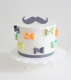 Cute Colorful Moustache Cake | Birthday Cake, Colorful Cakes, Themed Cakes | Beautiful Cake Pictures