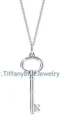 Elsa peretti quadrifoglio pendant necklace and earrings set tiffany keys oval key pendant silver necklace mozeypictures Gallery