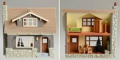 2011 Arts & Crafts Bungalow (Craftsman) - Hallmark Ornament - in Series - Nostalgic Houses and Shops - NIB Vampire House, Hallmark Ornaments, Christmas Ornaments, Dollhouse Toys, Barbie Toys, Christmas Centerpieces, Bungalow, Craftsman, Shed