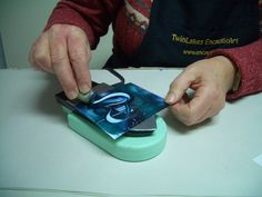 If you're not sure how to use the heat-resistant sponges and scrapies with the encaustic iron: here's a free tutorial with lots of pictures. Wax Art, Encaustic Painting, Iron, Steel
