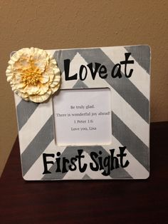 Hey, I found this really awesome Etsy listing at http://www.etsy.com/listing/130861174/love-at-first-sight-sonogram-frame
