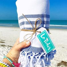 LoTides Beach Towel- Perfect for the beach, home decor, bachelorette party gifts, birthday presents, boating, traveling and more!