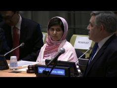▶ Malala en la ONU - YouTube
