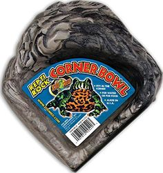 Zoo Med Reptile Rock Corner Water Dish, Small - http://www.bunnybits.org/zoo-med-reptile-rock-corner-water-dish-small/