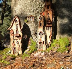 Wee Folk Mansion by *ForestDwellerHouses on deviantART Harp Pixie loves to walk in the presence of Forest Dwellers :)