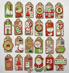 Doodlebug Design Inc Blog: Tag Tree Advent Calendar by Monique