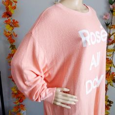 Wildfox Tops | Nwot Sweatshirt Oversized Vintage Pink | Poshmark Sweater Shirt, Wildfox, Vintage Pink, Pink Color, Graphic Sweatshirt, Sweatshirts, Fabric, Things To Sell, Tops