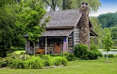 Cabins And Cottages: by Dave Mills - Old Paths w/a Twist of Time on FB. Log Cabin Living, Small Log Cabin, Little Cabin, Log Cabin Homes, Cozy Cabin, Small Cabins, Old Cabins, Cabins And Cottages, Cabins In The Woods