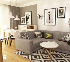Aranżacje wnętrz - Salon: Salon styl Skandynawski - Grafika i Projekt architektura wnętrz. Przeglądaj, dodawaj i zapisuj najlepsze zdjęcia, pomysły i inspiracje designerskie. W bazie mamy już prawie milion fotografii!