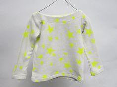 Kids Marinière Neon Yellow Stars