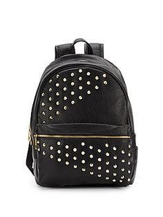 Saks Fifth Avenue - Styler Studded Faux Leather Backpack Faux Leather Backpack, Saks Fifth Avenue, Fashion Backpack, Backpacks, Handbags, Vanity, Accessories, Closet, Style
