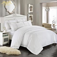 Cheap Bed Linen Set, Buy Quality Hotel Bedding Set Directly From China Bedding  Set Suppliers: ROMORUS Wholesale Hotel Bedding Set Pcs White King Queen Size  ...