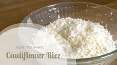 In this video Aviva Goldfarb shows you how to make cauliflower rice or cauliflower couscous with or without a food processor and how to use cauliflower rice . Healthy Family Meals, Healthy Cooking, Cooking Recipes, Healthy Recipes, Simple Recipes, Family Recipes, Eating Healthy, Asian Recipes, Clean Eating