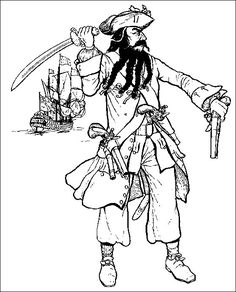 Black beard the Pirate of the Caribbean, Learn the History of Blackbeard Images Pirates, Film Pirates, Famous Pirates, Jake Le Pirate, Pirate Life, Playmobil Pirates, Beard Quotes, Bateau Pirate, What Is Fashion