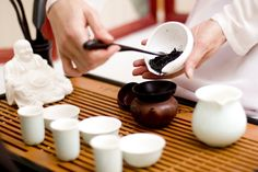 The accoutrements of gong fu cha -- the Chinese tea ceremony