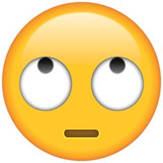 Your friend can't see you roll your eyes on social media or in texts, but they'll know you're doing it when they see this emoticon!