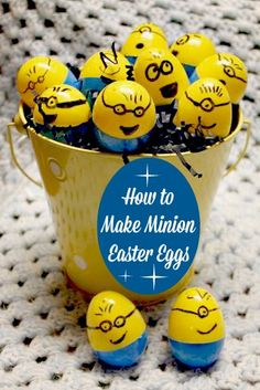 How to Make Minion Easter Eggs - SidetrackedSarah.com
