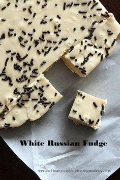 White Russian Fudge  http://www.culinaryconcoctionsbypeabody.com/2013/03/22/white-russian-fudge/