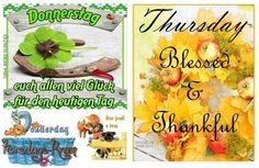 Blessed, Thankful, Good Thursday