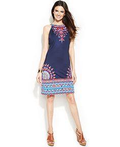 INC International Concepts Printed Halter Dress - Dresses - Women - Macy's - $45