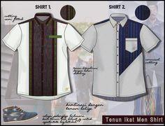 ikat men shirts / kain tenun / ikat shirt / ikat fashion / ikat Indonesia / technical drawing / flat drawing / men fashion / jasa desain design baju / clothing design. Email : neqdesign@gmail.com