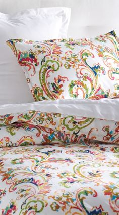 At once exuberantly colorful and delicately rendered, our Freesia Duvet Cover really is a work of art to transform your bedroom.
