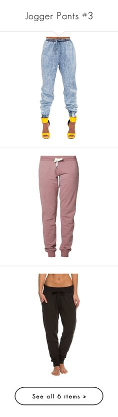 """""""Jogger Pants #3"""" by missk2blue ❤ liked on Polyvore featuring pants, jeans, bottoms, jeans // etc, activewear, activewear pants, sweatpants, bordeaux, cotton track pants and red sweat pants"""