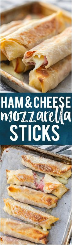 These baked ham and cheese mozzarella sticks are a healthier and delicious snack you can feel great about feeding your family.
