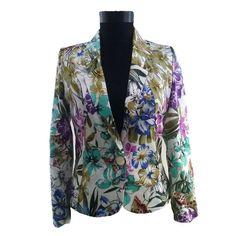 sacou cu imprimeu floral Coral, Blazer, Fashion, Style, Atelier, Moda, Fashion Styles, Blazers, Fashion Illustrations