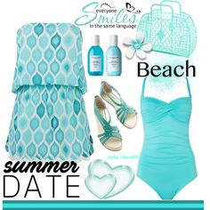 Summer Date - The Beach: 11/06/16 by pinky-chocolatte on Polyvore featuring ELIZABETH HURLEY beach, Seafolly, Seychelles and Sachajuan