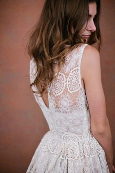 Spanish Lace Wedding Gown.