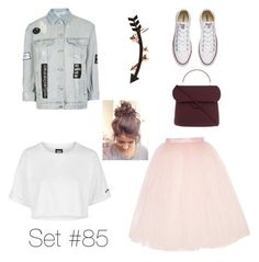 """No Name"" by emma-natalie ❤ liked on Polyvore featuring Topshop, Ballet Beautiful, Wild Hearts, Roksanda and Converse"