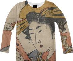 Shop courtesan Hanaōgi Long Sleeve Shirt by THE GRIFFIN PASSANT STREETWEAR STREETWEAR | Print All Over Me