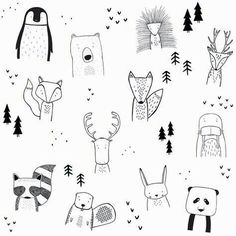 The wild kids apparel doodle art, doodle kids, bullet journal doodles ideas, bullet Doodle Art, Doodle Drawings, Easy Drawings, Doodle Kids, Funny Drawings, Simple Animal Drawings, Tier Doodles, Cool Doodles, Animal Doodles