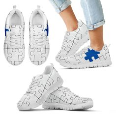 Skulls on White Sneakers Kids Sneakers, White Sneakers, Popular Shoes, Autism Awareness, Shoe Brands, Snug Fit, Men's Shoes, Trainers, Lace Up