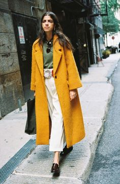 Blogger Leandra Medine travels around New York City for Mango Journeys: Chapter 7. Photographed by Hunter & Gatti, the brunette layers up in autumnal style